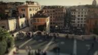View from Trinità dei Monti and Spanish Steps in Rome