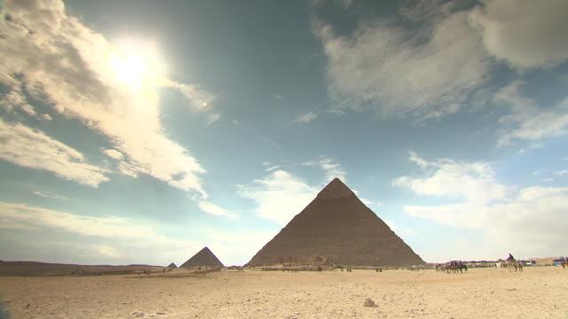 WS TL View Giza pyramids / Giza, Egypt