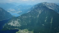 View Obertraun im österreichischen Alpen.