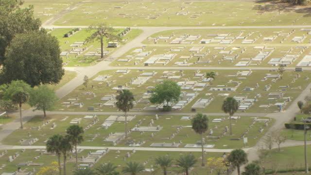 MS AERIAL View of 1928 Hurricane Mass Grave cemetery / Lake Okeechobee, Florida, United States
