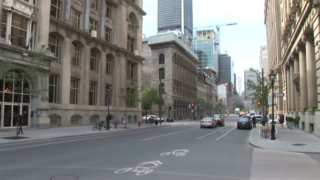 View Of A City Street In Montreal Canada Stock Footage Video Getty