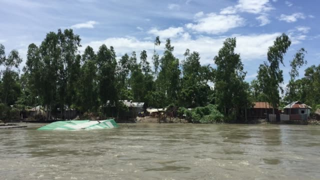 View of a flood affected village in Gaibandha Bangladesh August 19 2017
