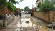 A view of a flooded street after torrential rain which causes 15 people dead in Skopje Macedonia on August 07 2016 Flooding in Macedonia has killed...