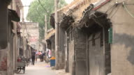View of a narrow road in Old Beijing China