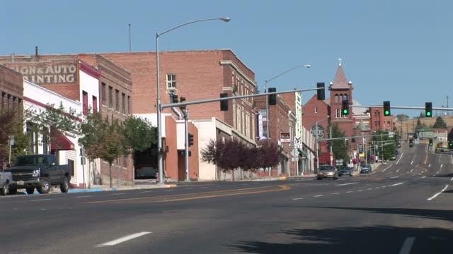 View Of A Small Town In Butte United States Stock Footage