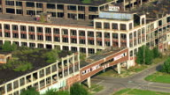 MS AERIAL View of  abandoned Packard Motors Plant / Detroit, Michigan, United States