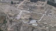 WS AERIAL View of Acropolis / Acropolis, Athens, Greece