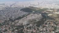 WS AERIAL ZI View of Acropolis citadel / Acropolis, Athens, Greece