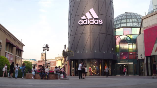 A view of Adidas at Solana shopping mall on May 7 2017 in Beijing China