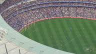 WS AERIAL ZI ZO View of AFL stadium / Deniliquin, New South Wales, Australia