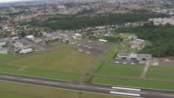 WS AERIAL View of Airport in city / Parana, Brazil