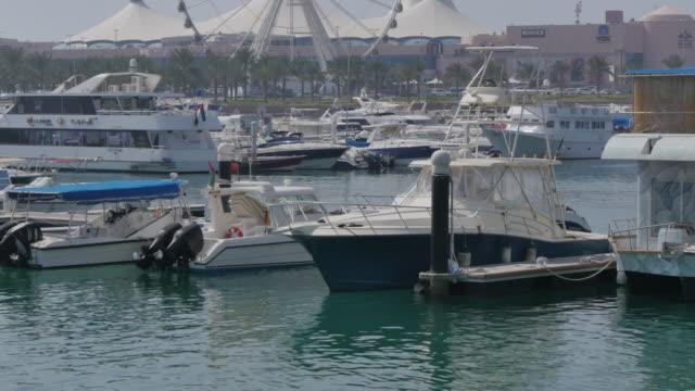 View of Al Marina, harbour and Marina Mall, Abu Dhabi, United Arab Emirates, Middle East, Asia