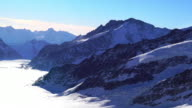 View of Aletsch Glacier in Jungfrau (one of the main summits of Bernese Alps)