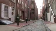 View of alley in Philadelphia United States