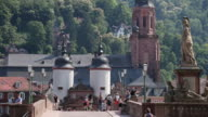 WS View of Alte Brucke and Heiliggeistkirche (Old Bridge and Church of Holy Spirit) / Heidelberg, Baden-Württemberg, Germany