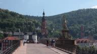 WS View of Alte Brucke (Old Bridge) / Heidelberg, Baden-Württemberg, Germany