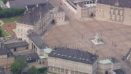 WS AERIAL ZO View of Amalienborg (Royal palaces) / Copenhagen, Denmark