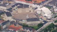 WS AERIAL ZI View of Amalienborg (Royal palaces) / Copenhagen, Denmark