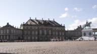 WS View of Amalienborg courtyard with Frederick V Statue / Copenhagen, Denmark