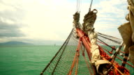 Auf einer alten Segeln Schiff