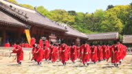 WS View of Ancestral ritual formalities for jongmyo shrine (Intangible Cultural Heritage) / Seoul, South Korea