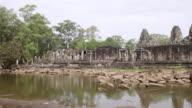 WS PAN View of Angkor Thom / Siem Reap, Ankor, Cambodia