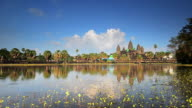 WS T/L View of Ankor Wat Temple and moat / Angkor, Wat Siem, Reap Colombia