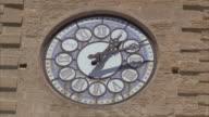 CU View of antique clock tower / Salon-de-Provence, France