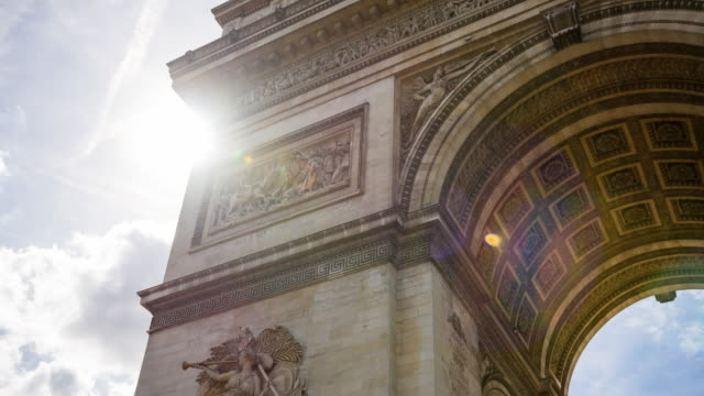 View of Arc de Triomphe, one of the most famous monuments in Paris
