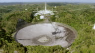 WS AERIAL POV View of Arecibo Observatory / Arecibo, Puerto Rico, United States