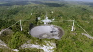 WS AERIAL POV TD View of Arecibo Observatory / Arecibo, Puerto Rico, United States