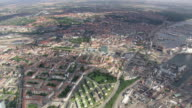 WS AERIAL View of Arhus / Arhus, Denmark