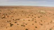 WS AERIAL View of Arizona Desert heading towards Grand Canyon / Arizona, United States