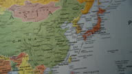 CU PAN View of Asia in world map / Atlanta, Georgia, USA