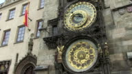 MS View of astronomical clock at old town hall / Prague, Hlavni mesto Praha, Czech Republic
