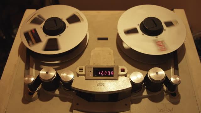 CU View of audio reel recorder / New Zealand