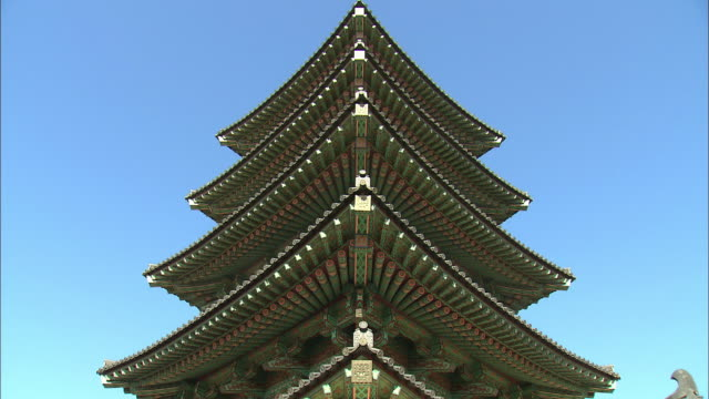 View of Baekjeneungsaocheungmoktap wooden pagoda in Baekje Cultural Land