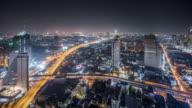 T/L WS HA View of Bangkok at Night / Bangkok, Thailand