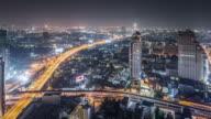 T/L WS HA ZO View of Bangkok at Night / Bangkok, Thailand