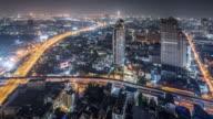 T/L WS HA PAN View of Bangkok at Night / Bangkok, Thailand