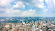 Vista città di Bangkok con nuvole