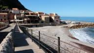 MS View of Beach houses / Mallorca, Balearic Islands, Spain