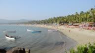WS View of Beach scene / Palolem, Goa, India