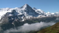 WS View of Bernese Alps with Eiger and Jungfrau / Grindelwald, Bernese Oberland, Switzerland