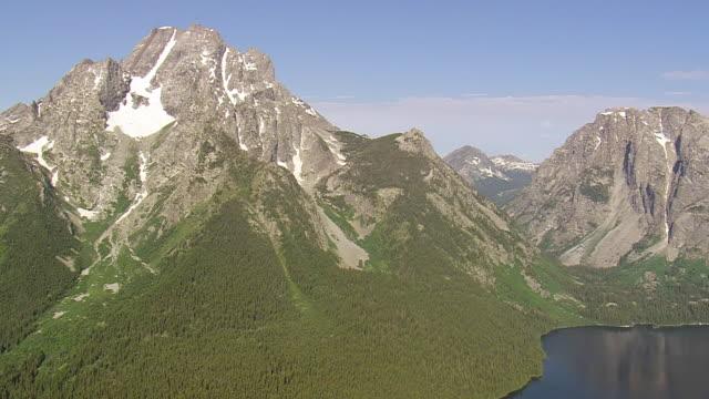 WS AERIAL View of Bivovac Peak / Wyoming, United States