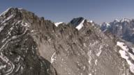 WS AERIAL View of Bluemlisalp summit ridge and bluemlisalphorn, wyssi frau with morgenhorn kanderfirn and tschingelfirn / Bluemlisalp, Bern, Switzerland