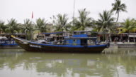 WS View of boat in River / Hoi An, Quang Nam, Vietnam