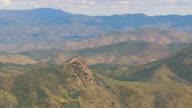 WS AERIAL View of Bradshaw Mountains / Arizona, United States