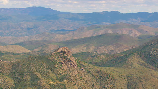 WS AERIAL View of Bradshaw Mountains / Arizona, United States