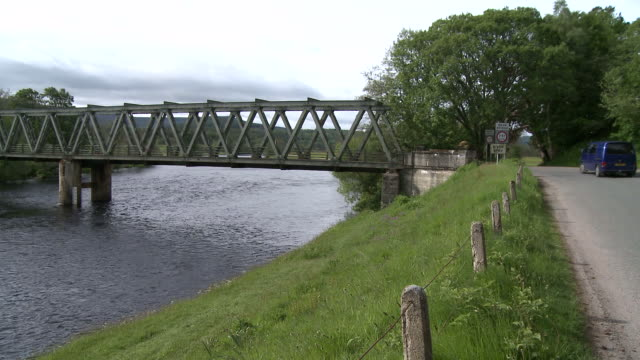 WS View of bridge on river / Cromdale, Speyside, Scotland